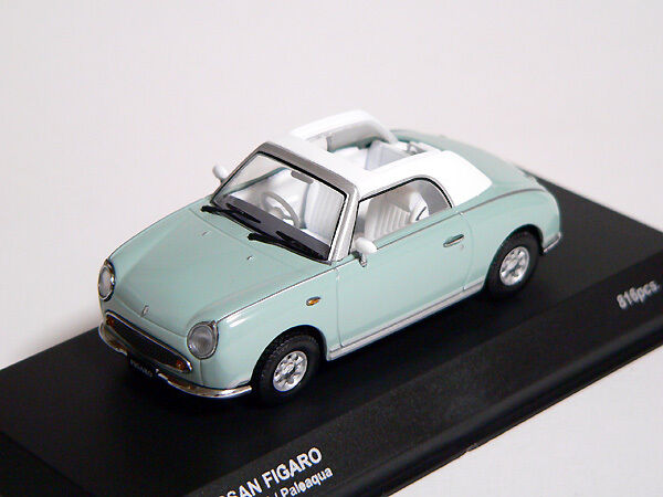 Nissan FIGARO 1 43 1 43 DieCast Model Opened Pale Aqua Kyosho NEW, RARE