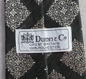 Consciencieux Vintage Cravate Dunn & Co Homme Cravate Rétro Fashion Vert Foncé-afficher Le Titre D'origine La Consommation RéGulièRe De Thé AméLiore Votre Santé