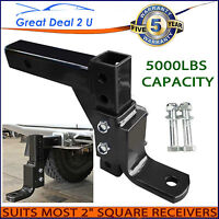 16 Stages Adjustable Towbar Tongue Ball Mount Hitch 2 X 2 Most Square Receiver