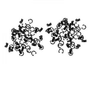100Pcs Bike Bicycle MTB C-Clips Buckle Hose Brake Gear Cable Housing Guide