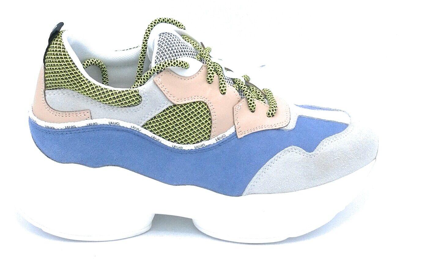 Liu Jo B19035 sneaker laces suede multicolour