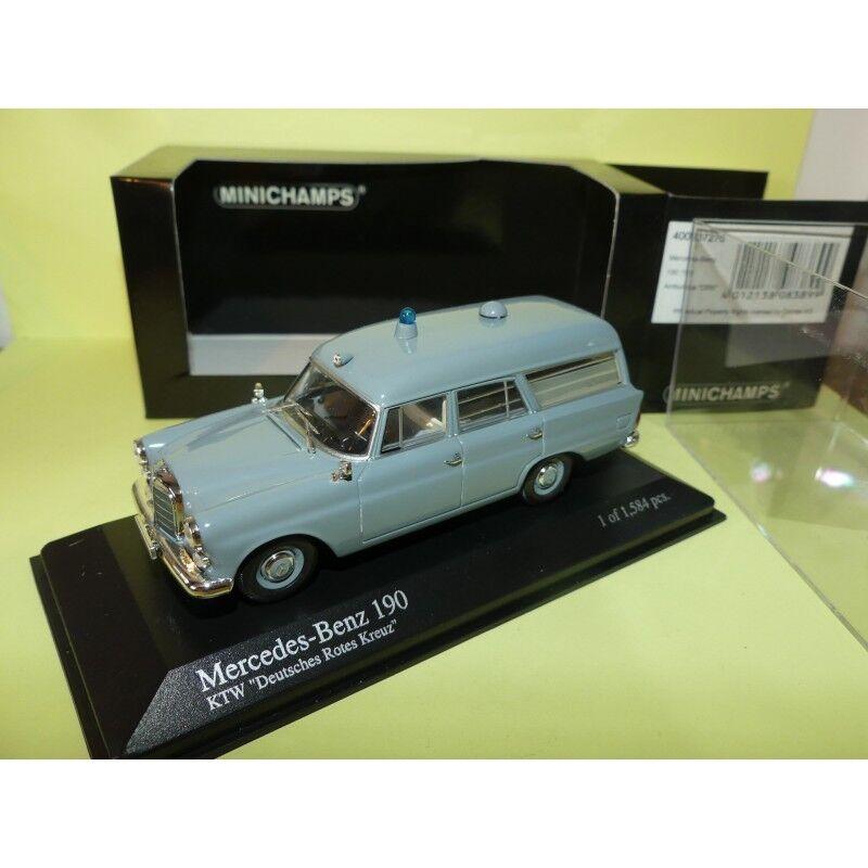 MERCEDES 190 AMBUMANCE DRK 1961 MINICHAMPS 1 43