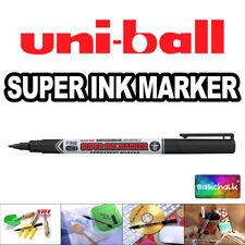 Uni Super Ink Black Marker Pen Permanent Glass Metal Cd Fabric Fine Uni Ball