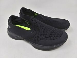New-Women-039-s-Skechers-14927-GOwalk-4-Attuned-Slip-On-Sneaker-Black-K44