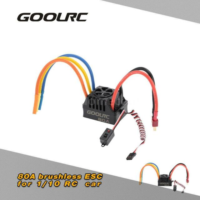 GoolRC 80A 2~4S LiPo Battery ESC for 1/8 RC Car safety 85GK