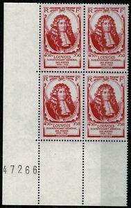 FRANCE-1947-Bloc-de-4-YT-n-779-Neuf-luxe-MNH-BDF