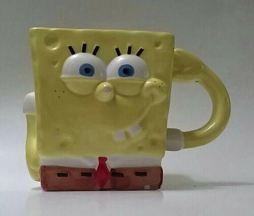 SpongeBob SquarePants Two Faces Coffee Tea Mug Cup 2003 Viacom Yellow