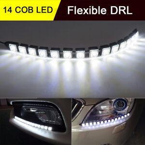 White-14-LED-Car-Flexible-Tube-LED-Strip-Daytime-Runnning-DRL-Light-Headlight