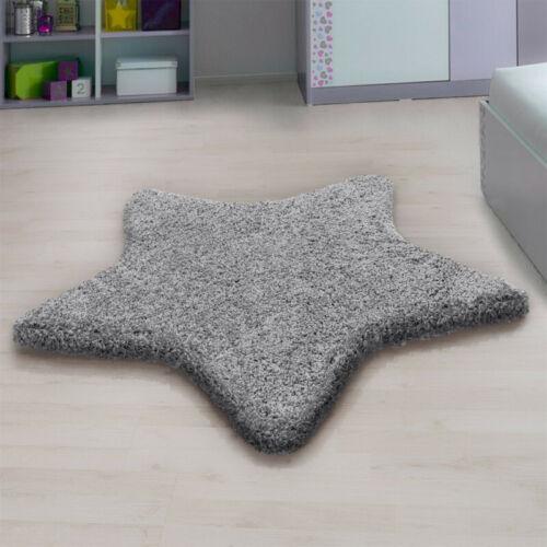Wohnzimmer Schlafzimmer und Kinderzimmer Hochflor-Teppich  mit Stern Design He