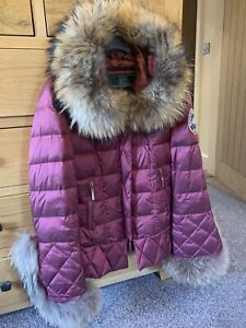 Holland Cooper The Classic Courchevel Padded Coat Burgundy M 10 12 Pristine Ebay