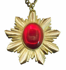 Medieval Renaissance Medallion Necklace Gold Finish Extra Large NK-440GLC