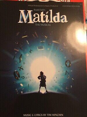 Matilda The Musical Easy Piano Selections Sheet Music Book Roald Dahl