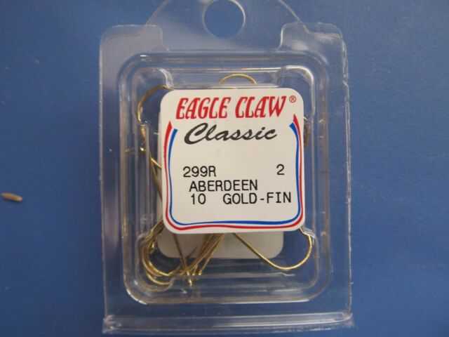 Eagle Claw Aberdeen Gold Snelled Hook Size 2