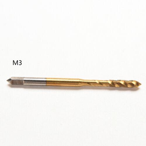 Unique M3 M4 M5 M6 M8 Titanium Screw Metric Spiral Fluted Machine Hand Tap Kit S
