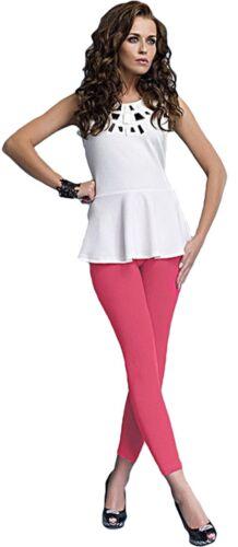 Damen bequeme Leggings Leggins blickdicht lang rosa Gr S-XXL Rock Kleid Kostüm