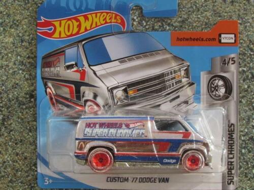 Hot Wheels 2019 #023/250 Custom 1977 Dodge Lastwagen Silber @B Spielzeugautos