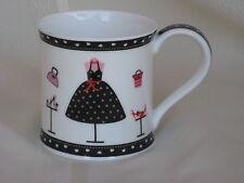 "Dunoon Fine Bone China Mug / Cup ""Born to Shop"" Design by Kate Mawdsley England"