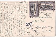 Congo Belga 1944 PPC de Leopoldville y con no normal censor {a continuación}