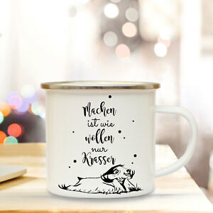 100% Wahr Emaille Becher Tasse Campingbecher Faultier Spruch Machen.. Kaffeebecher Eb94 Diversifizierte Neueste Designs Kindergeschirr & -besteck
