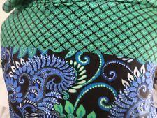 1 yd printed   fabric good weight 4 way spandex lycra USA J5039