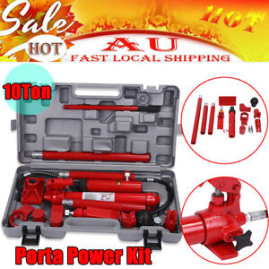 10 Ton Porta Power Kit Hydraulic Panel Beating Car Body Dent Frame Repair Tools Ebay