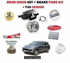 für Porsche Cayenne 955 2002-2010 NEU Bremsscheiben SET hinten Pad Set + Sensor