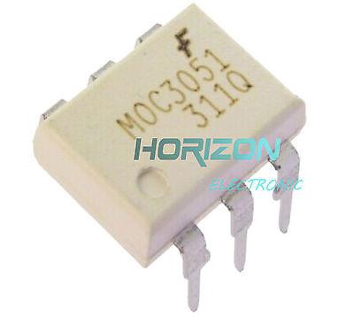 5PCS IC MOC3051 FSC OPTOCOUPLER TRIAC-OUT 6-DIP NEW