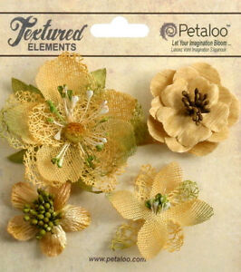 Mixed-Textured-Blossoms-AMBER-x-4-Fabric-Mesh-Flowers-35-60mm-Petaloo