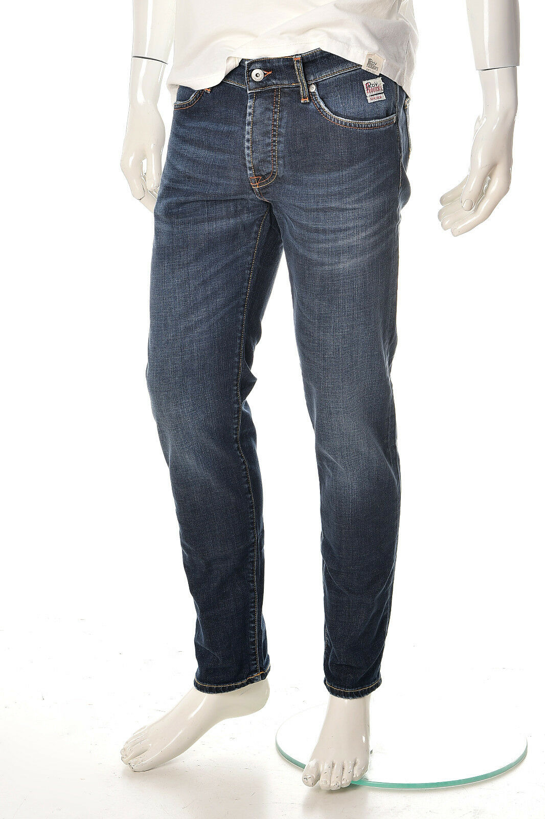 Jeans Uomo ROY ROGER'S 529 Cut Superior Paulo Cotone Denim Denim Denim Scuri Stretch NUOVI d9bb36