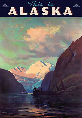 TA25 Vintage This Is Alaska American USA Travel Poster Re Print - A4
