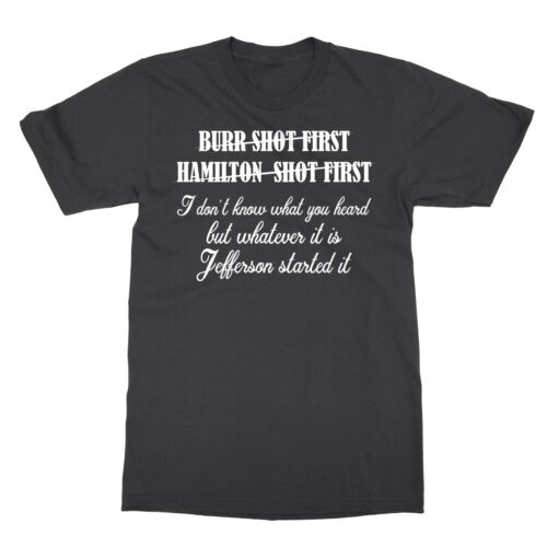 Alexander Hamilton Unique /& Funny Burr Shot First Men/'s T-Shirt