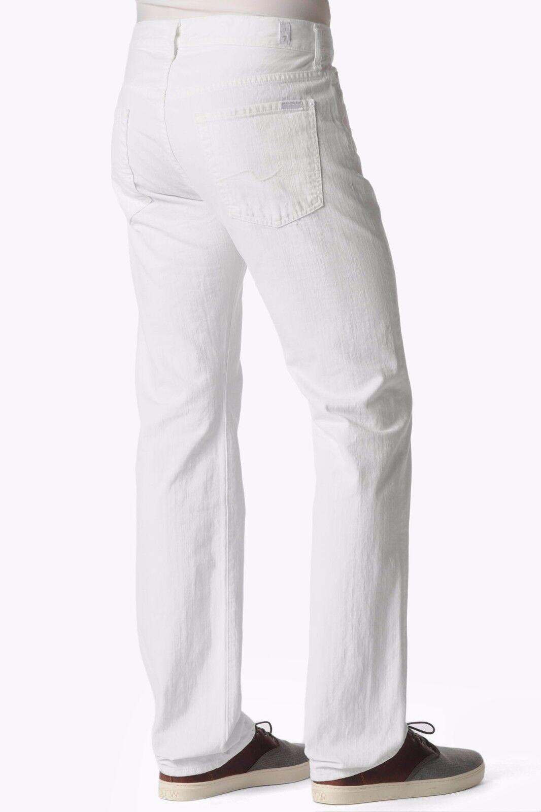 Nwt 7 für Alle Sz30 Standard Klassisch Gerades Bein Jeans Sauber Weiß  | 2019  | Das hochwertigste Material  | Eine Große Vielfalt An Modelle 2019 Neue