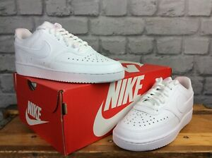 NIKE-LADIES-UK-4-EU-37-5-COURT-VISION-LOW-WHITE-TRAINERS-RRP-60-J