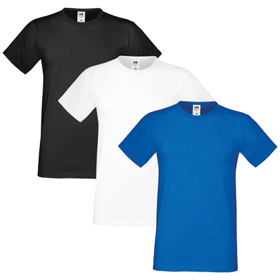 Fruit of the Loom Homme Sofspun Pack of 3 T-Shirt