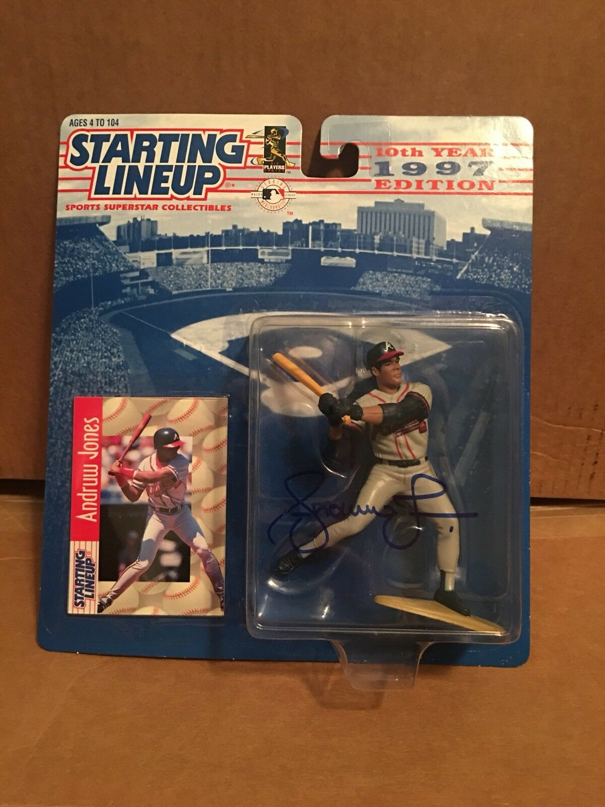 Andruw Jones Signed Signed Signed Starting Lineup 737dd8