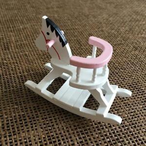 Schaukelpferd-weiss-NEU-1-12-Puppenhaus-Miniatur-J6D0-S1E2