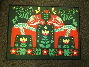 Image Is Loading Scandinavian Swedish Dala Horse Door Mat Rug 18