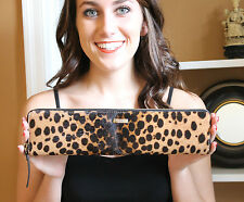 Kate Spade Calf Hair Leopard Cheetah Lelia 'Streetcar' Long Zip Around Clutch