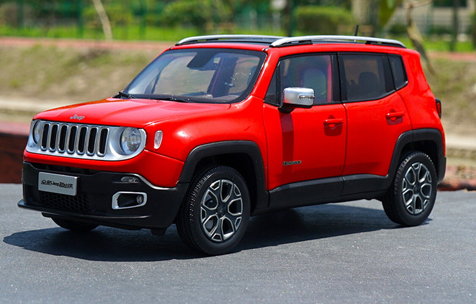 1 18 Scale Jeep Renegade Suv rot Diecast Car Model Toy Collection Gift