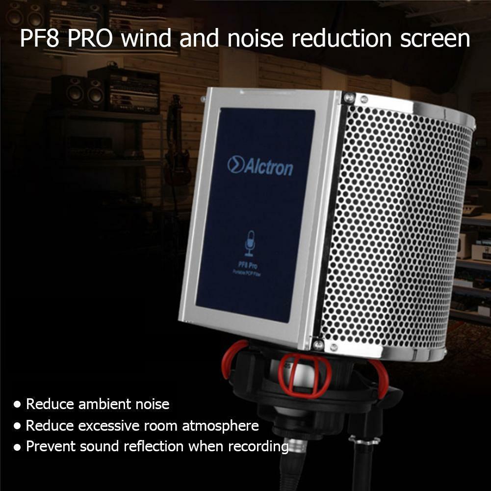 Alctron PF8PRO Mic Screen Acoustic Filter Desktop Personal Recording Wind Screen