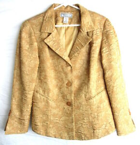 M Medium Blazer Taglia Simonton Says Floral Gold Womens 0nvYn4qRO