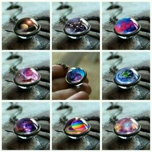 Glow-in-the-Dark-Galaxy-System-Planet-Pendant-Necklace-Double-Sided-Glass-Dome