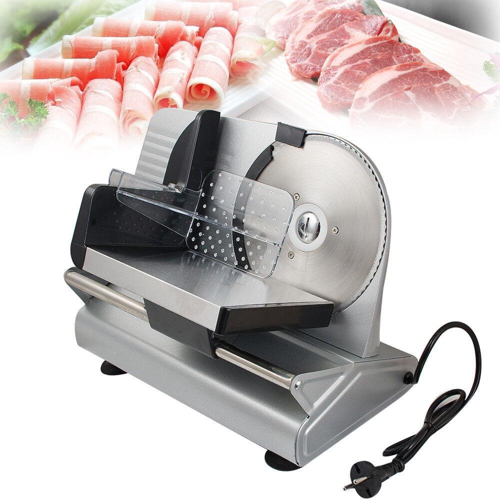 Commercial Electric Meat Slicer 7.5  Blade Home Deli Meat Food Slicer Kitchen CE