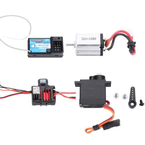 Mini RC Car Receiver+Motor+ESC+Servo for URUAV 1//24 4WD 2.4G Crawler Model Vehic