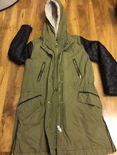 H&M Ladies Hoodie Parka Winter Warm Long Jacket Size 8