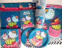 Mad Hatter Tea Party Birthday Party Supply Set Deluxe Kit W/ Loot Bags & Invites