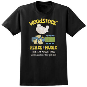 Woodstock-Music-Festival-Inspired-T-shirt-Peace-Guitar-Band-60-039-s-Tee-NEW