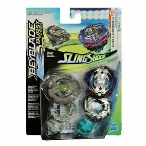 Beyblade Burst Turbo Sling Shock Silver X Jormuntor J4 & Leopard L4 Hasbro