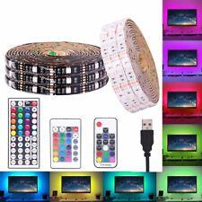 0.5m-5m 5V USB 5050 RGB LED Strip Waterproof USB LED Light Strips Flexible Tape