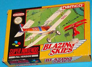 Blazing Skies - Super Nintendo SNES - PAL